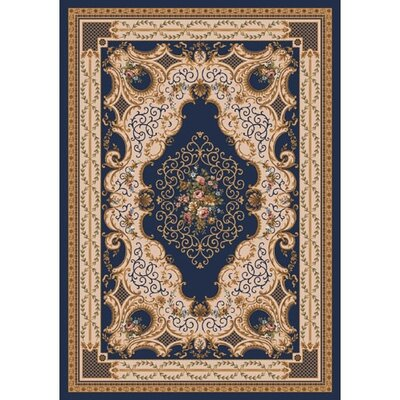 Pastiche Kashmiran Valette Phantom Blue Area Rug Rug Size: Rectangle 54 x 78