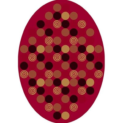 Innovation Da T Da Cherry Area Rug Rug Size: Oval 54 x 78