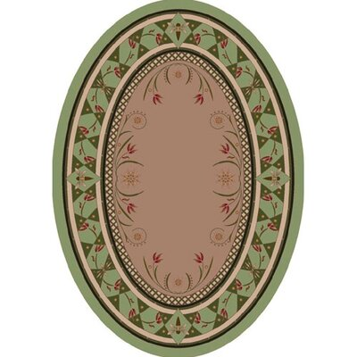 Innovation Light Celadon Kimberly Area Rug Rug Size: Oval 54 x 78