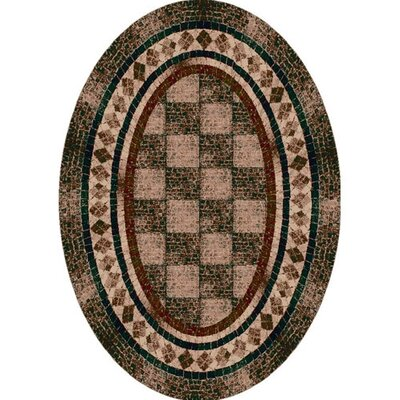 Innovation Dark Amber Flagler Area Rug Rug Size: Oval 310 x 54