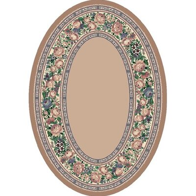 Innovation Pearl Mist English Floral Area Rug Rug Size: Oval 54 x 78