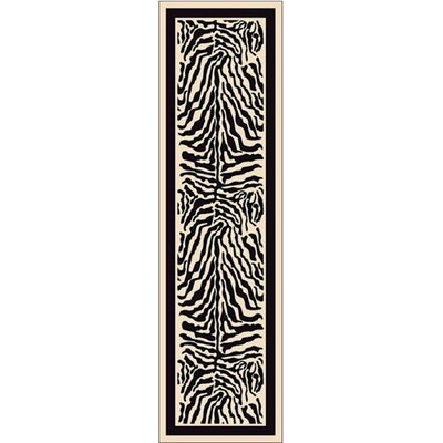 Innovation Print Zulu Zebra Area Rug Rug Size: Rectangle 21 x 78