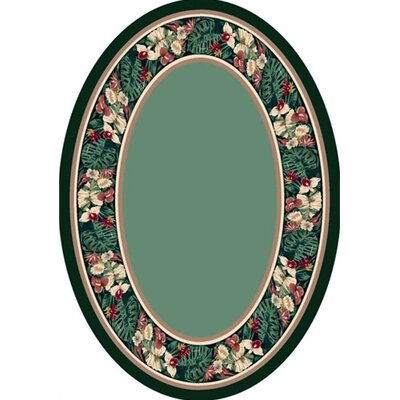 Innovation Peridot Tropical Forest Area Rug Rug Size: Oval 310 x 54