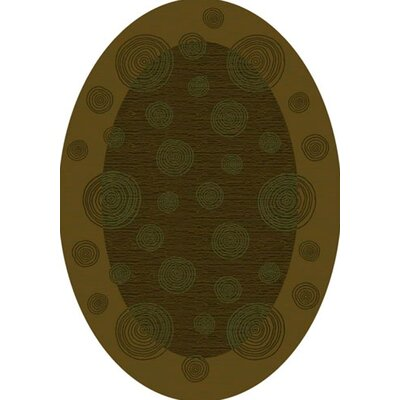 Innovation Tobacco Wabi Area Rug Rug Size: Oval 310 x 54