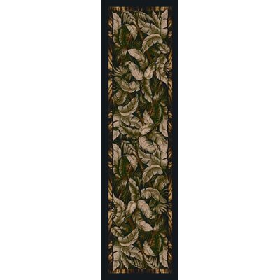 Signature Jungle Fever Ebony Sage Area Rug Rug Size: 21 x 78