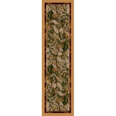 Signature Jungle Fever Light Maize Area Rug Rug Size: 21 x 78
