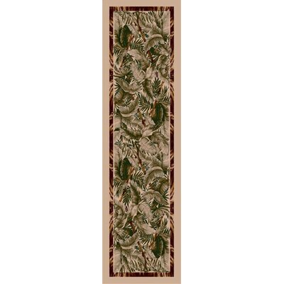 Signature Jungle Fever Pearl Mist Area Rug Rug Size: 21 x 78