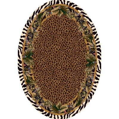 Signature Jungle Safari Skins Area Rug Rug Size: Oval 310 x 54