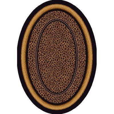 Signature Zambia Print Onyx Area Rug Rug Size: Oval 54 x 78