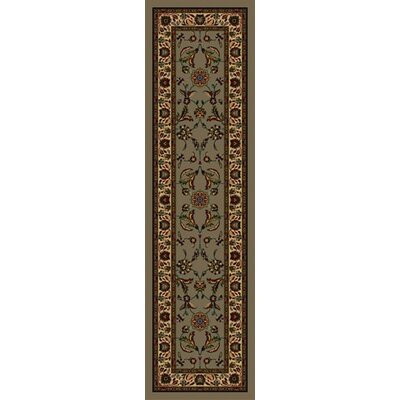 Signature Isfahan Sage Area Rug Rug Size: Rectangle 21 x 78