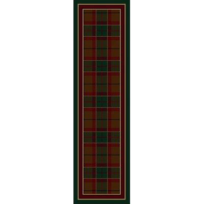 Signature Magee Tartan Emerald Area Rug Rug Size: Rectangle 21 x 78