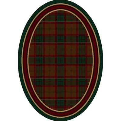 Signature Magee Tartan Emerald Area Rug Rug Size: Oval 310 x 54