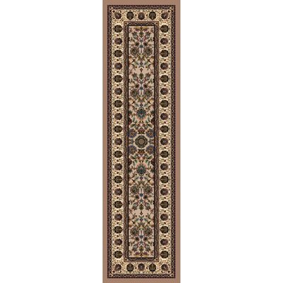 Signature Persian Palace Sandstone Area Rug Rug Size: Rectangle 21 x 78