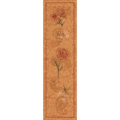 Pastiche Vintage Flaxen Orange Area Rug Rug Size: Rectangle 21 x 78