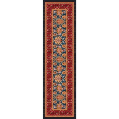 Pastiche Karshi Blue Grey Rug Rug Size: Rectangle 21 x 78