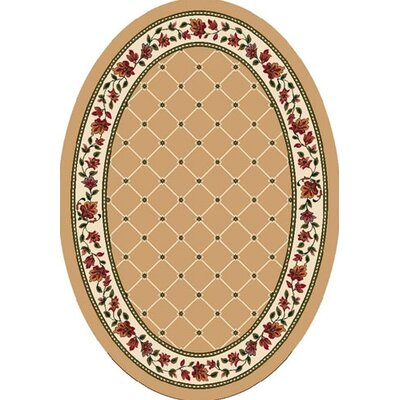 Signature Symphony Wheat Area Rug Rug Size: Oval 310 x 54