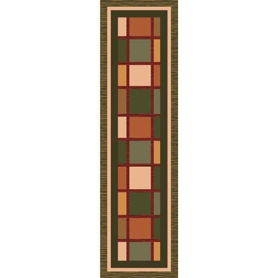 Pastiche Ababa Dark Olive Rug Rug Size: 21 x 78