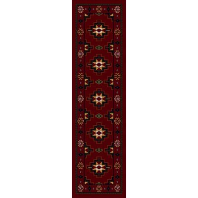 Signature Prairie Star Garnet Area Rug Rug Size: Oval 310 x 54