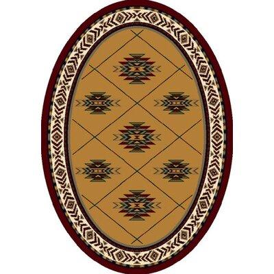 Signature Shiba Garnet Area Rug Rug Size: Oval 54 x 78
