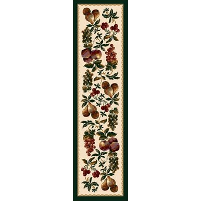 Signature Fruit Medley Beige Area Rug Rug Size: Rectangle 21 x 78