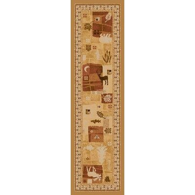 Signature Deer Trail Maize Area Rug Rug Size: Square 77