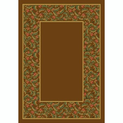 Design Center Nutmeg Latin Rose Area Rug Rug Size: Round 77