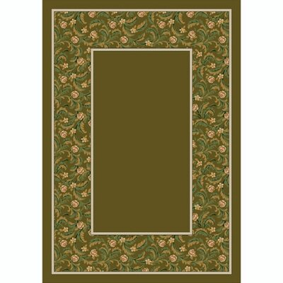 Design Center Tobacco Latin Rose Area Rug Rug Size: 109 x 132