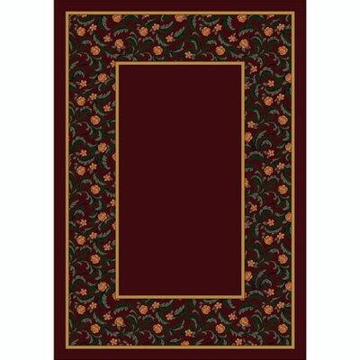 Design Center Garnet Latin Rose Area Rug Rug Size: Round 77