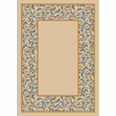 Design Center Opal Lapis Latin Rose Area Rug Rug Size: 78 x 109