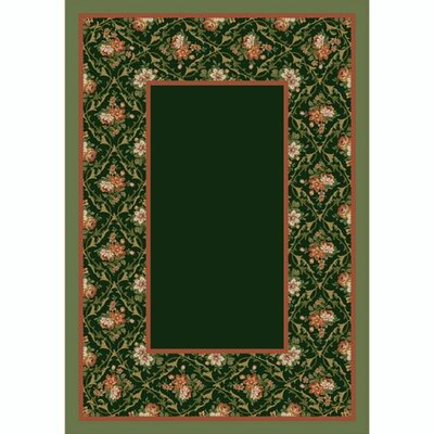 Design Center Olive Bouquet Lace Area Rug Rug Size: Round 77