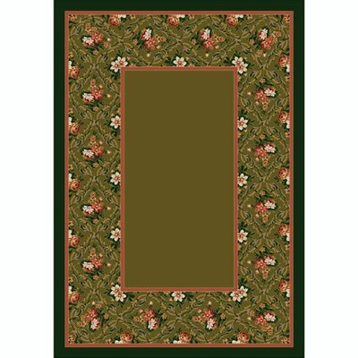 Design Center Tobacco Bouquet Lace Area Rug Rug Size: Round 77