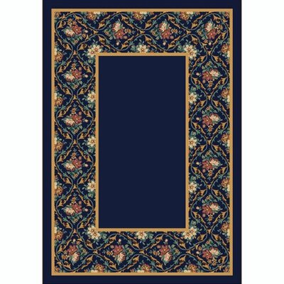 Design Center Bouquet Lace Onyx Area Rug Rug Size: Round 77