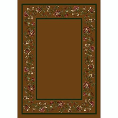 Design Center Nutmeg Khorrasan Area Rug Rug Size: Rectangle 109 x 132