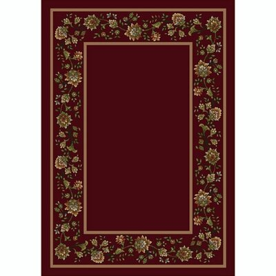 Design Center Cranberry Khorrasan Area Rug Rug Size: Rectangle 78 x 109