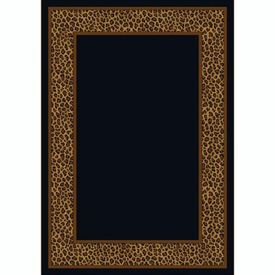 Design Center Leopold Leopard Area Rug Rug Size: Round 77