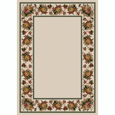 Design Center Opal Floral Lace Area Rug Rug Size: Rectangle 3'10