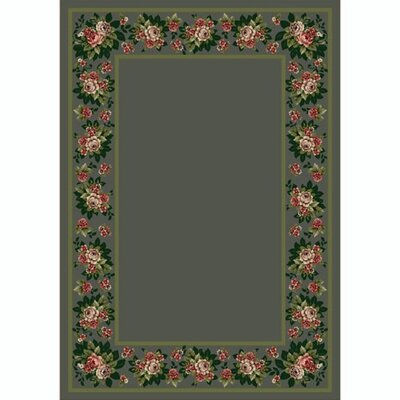 Design Center Aqua Floral Lace Area Rug Rug Size: 109 x 132