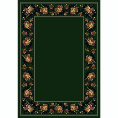 Design Center Emerald Floral Lace Area Rug Rug Size: 310 x 54