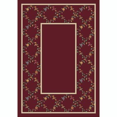 Design Center Garnet Maiden Area Rug Rug Size: 109 x 132