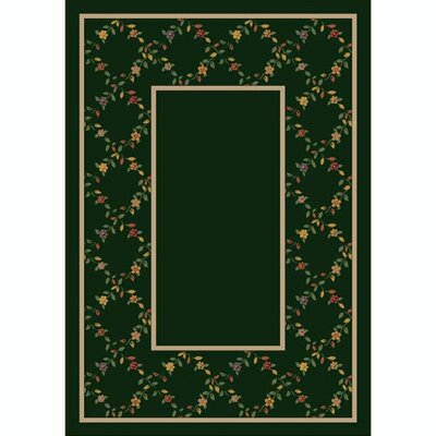 Design Center Emerald Maiden Area Rug Rug Size: Round 77