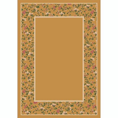 Design Center Golden Topaz Garden Glory Area Rug Rug Size: 78 x 109