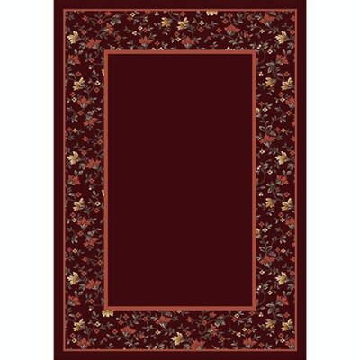 Design Center Garnett Garden Glory Area Rug Rug Size: Round 77