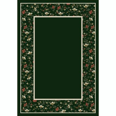 Design Center Emerald Garden Glory Area Rug Rug Size: 109 x 132