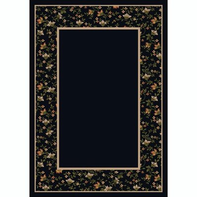 Design Center Onyx Garden Glory Area Rug Rug Size: 5'4