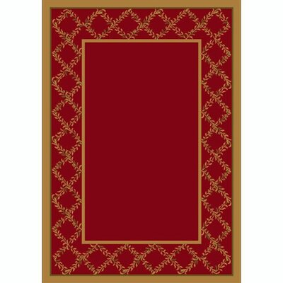 Design Center Brick Lystra Area Rug Rug Size: Rectangle 78 x 109