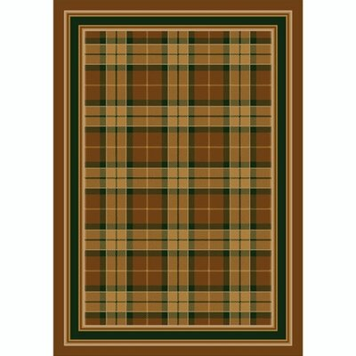 Design Center Golden Amber Magee Plaid Area Rug Rug Size: 109 x 132
