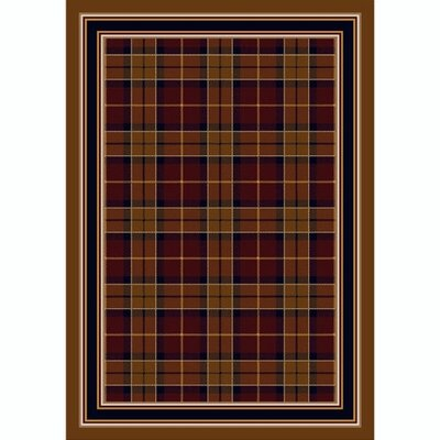 Design Center Garnett Magee Plaid Area Rug Rug Size: Round 77