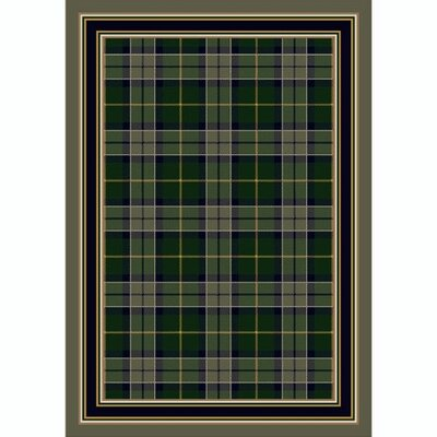 Design Center Emerald Magee Plaid Area Rug Rug Size: Round 77