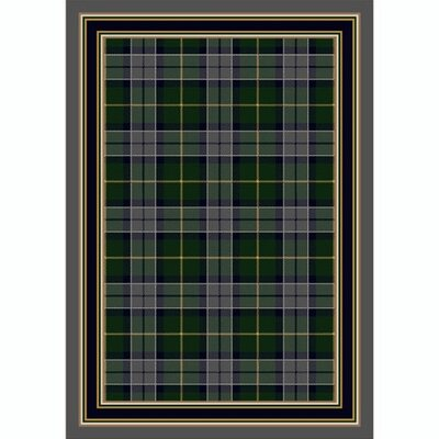 Design Center Emerald Lapis Magee Plaid Area Rug Rug Size: Round 77