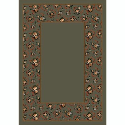 Design Center Sage Cameo Rose Area Rug Rug Size: Rectangle 78 x 109